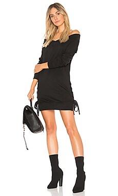 Plush Terry Lace Up Dress