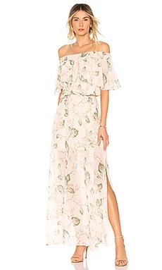 Off The Shoulder Maxi Dress Bobi $111