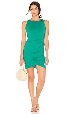 Supreme Jersey Ruched Bodycon Dress Bobi $62