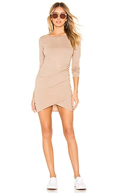 Supreme Jersey Ruched Bodycon Dress Bobi $44