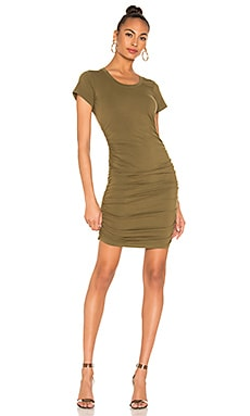 Draped Jersey Ruched Dress Bobi $70 NEW ARRIVAL