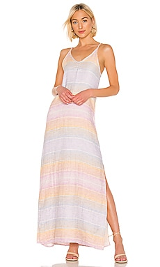 ROBE MAXI SUNSET LINEN Bobi $48