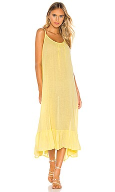 Gauze Midi Dress Bobi $40