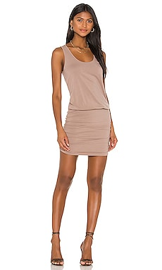 Draped Modal Jersey Mini Dress Bobi $66