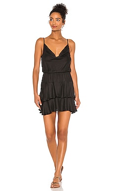 BLACK Boho Woven Mini Dress Bobi $106