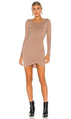 Supreme Jersey Ruched Bodycon Dress Bobi $41