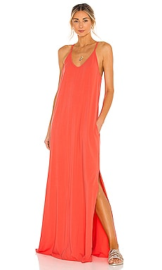 Draped Modal Jersey Dress Bobi $92
