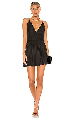 BLACK Boho Woven Dress Bobi $110
