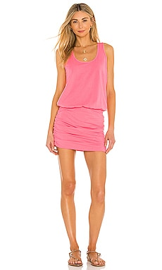Draped Modal Jersey Dress Bobi $66