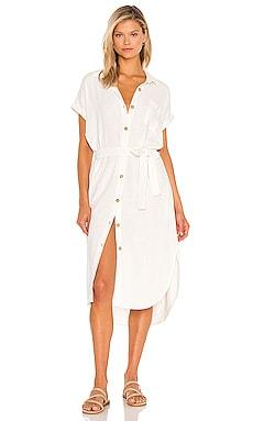 BLACK Indio Linen Shirt Dress Bobi $128 BEST SELLER