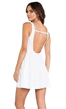 Bobi Light Weight Jersey Swing Dress in White