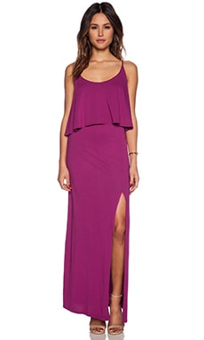 Bobi Modal Jersey Trapeze Maxi Dress in Maui Wowi