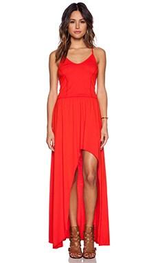 Bobi Supreme Jersey Maxi Dress in Candy Red
