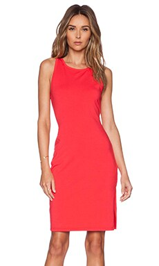 Bobi Heavy Spandex Dress in Light Raspberry