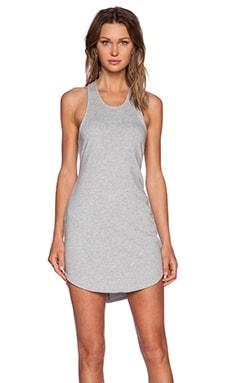 Bobi Light Weight Cashmere Terry Dress in Heather Grey
