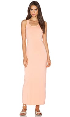 Bobi Supreme Jersey Maxi Dress in Peachy