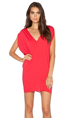 Light Weight Jersey Batwing Dress in Light Raspberry