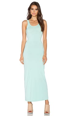 Bobi Supreme Jersey Maxi Dress in Bubble Blue