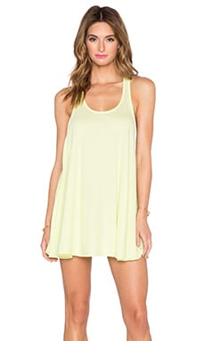 Bobi Light Weight Jersey Tank Dress in Mojito