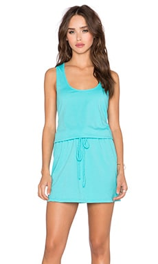 Bobi Supreme Jersey Cinch Waist Dress in Dive