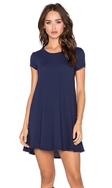 Bobi Light Weight Jersey Shift Dress in Nautical