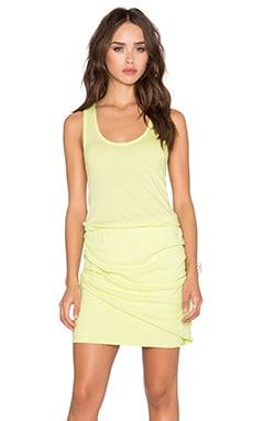 Bobi Light Weight Jersey Ruched Tank Dress in Mojito