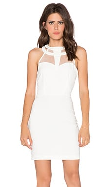 Bobi BLACK Luxe Stretch Crepe Mini Dress in White