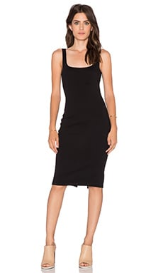 Bobi Athletic Scuba Maxi Dress in Black