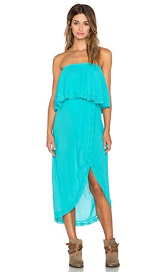 Bobi Gauze Strapless Maxi Dress in Dive