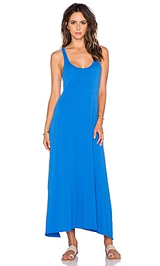 Bobi Supreme Jersey Racerback Maxi Dress in Tropez