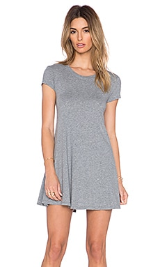 Bobi Light Weight Jersey Tee Dress in Thunder