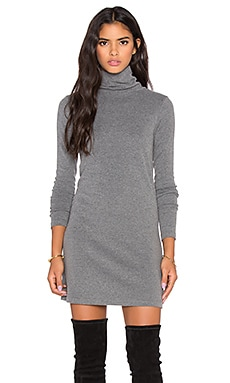 Bobi Cuddly Knit Dress in Grey