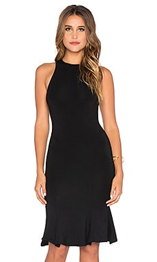 Bobi Jersey Pleated Tank Dress in Black