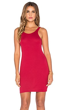 Bobi Heavy Rib Tank Dress in Roses
