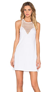 Pima Cotton Sweetheart Mini Dress in White