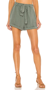 BLACK Indio Linen Short Bobi $97