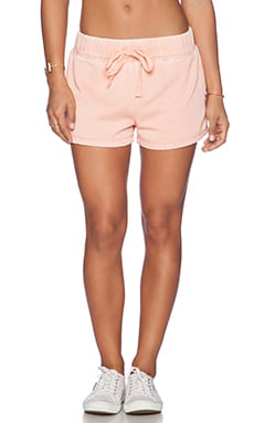 Bobi Enzyme Wash Lounge Short in Peachy
