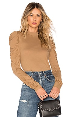 Light Weight Jersey Ruched Turtleneck Bobi $53 BEST SELLER