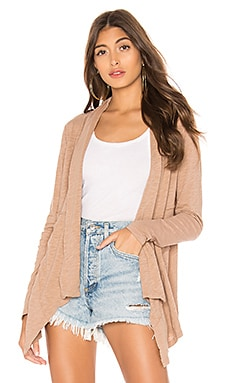 Slubbed Jersey Draped Cardigan Bobi $70