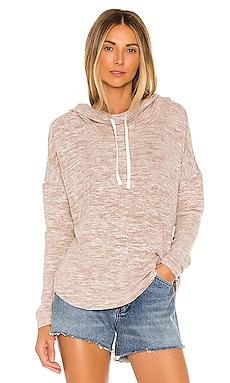 Brushed Heather Knit Pullover Bobi $45