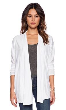 Bobi Light Weight Jersey Cardigan in White