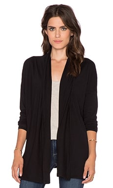 Bobi Light Weight Jersey Cardigan in Black