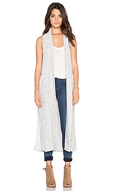 Bobi Boucle Long Vest in Off White