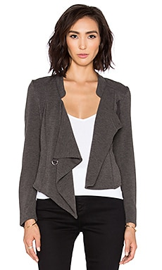 Bobi BLACK Knit Boucle Wrap Cardigan in Charcoal