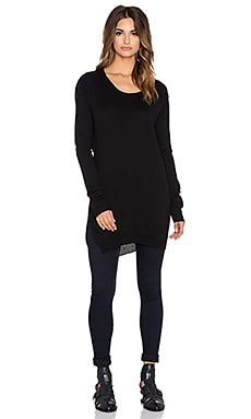 Bobi Cowl Back Sweater in Black