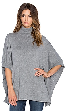 Bobi Turtleneck Poncho in Thunder
