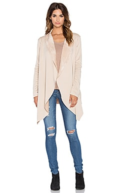 Bobi Bonded Fur Cardigan in Tan