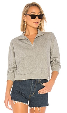 Terry Half Zip Sweatshirt Bobi $56