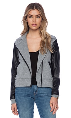 Bobi Cashmere Terry Moto Jacket in Thunder