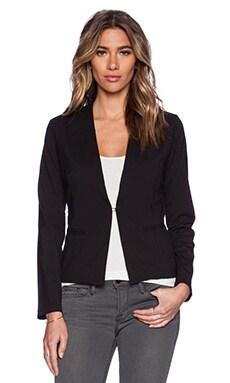 Bobi Rayon Gabardine Blazer in Black